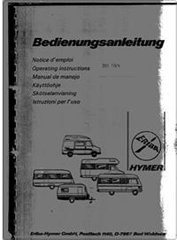 Hymer B544 Hymer manual